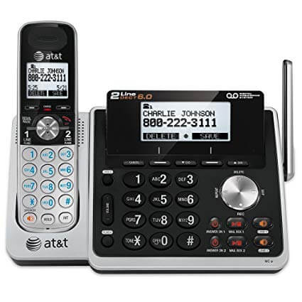 AT&T 2-line 2 handset cordless answering system