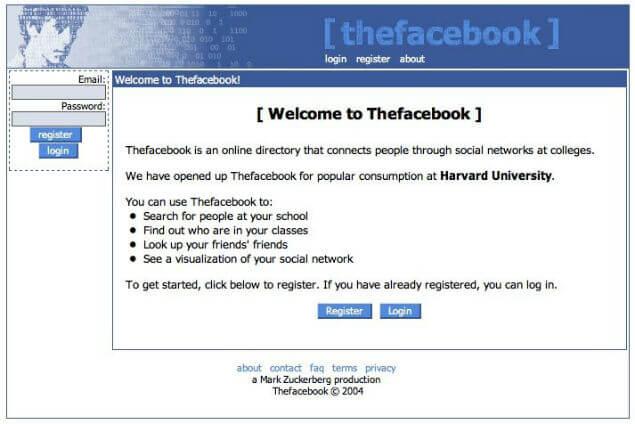 Mark Zuckerberg's first website