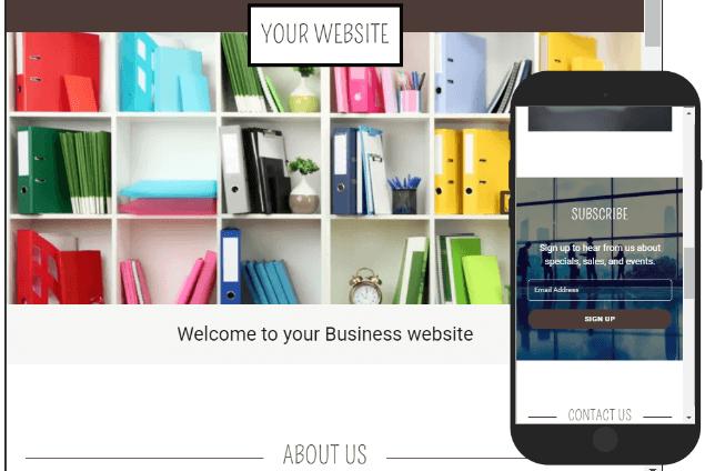 A modern website