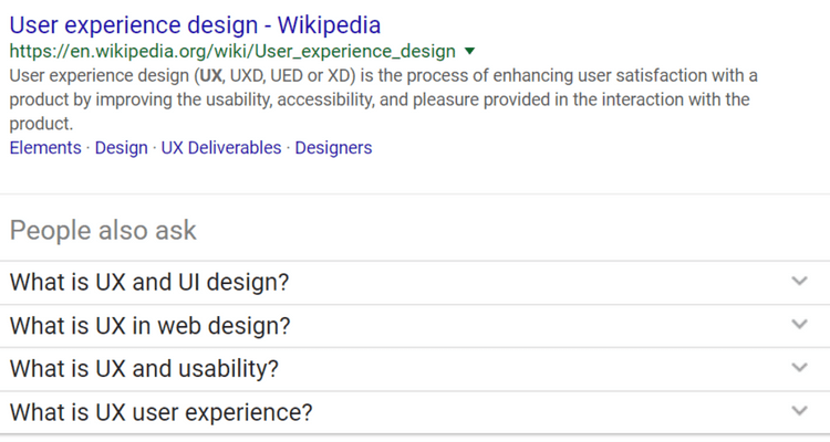 What is UX google search