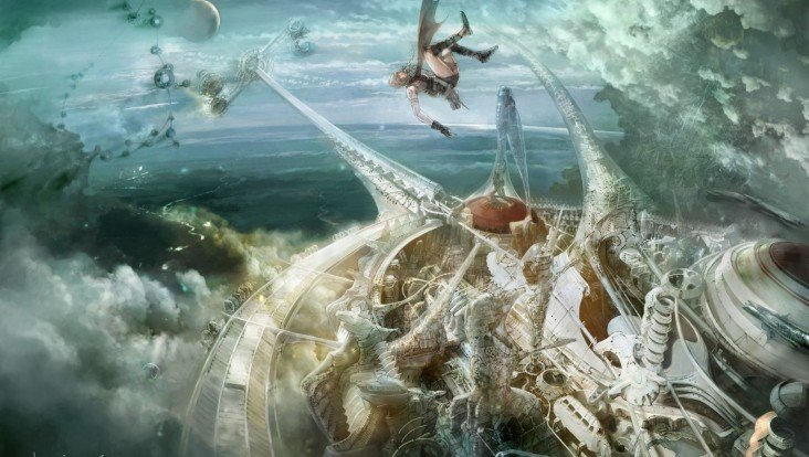 Illustration d'Isamu Kamikokuryô pour Final Fantasy XIII