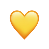 Golden Heart Emoji Small
