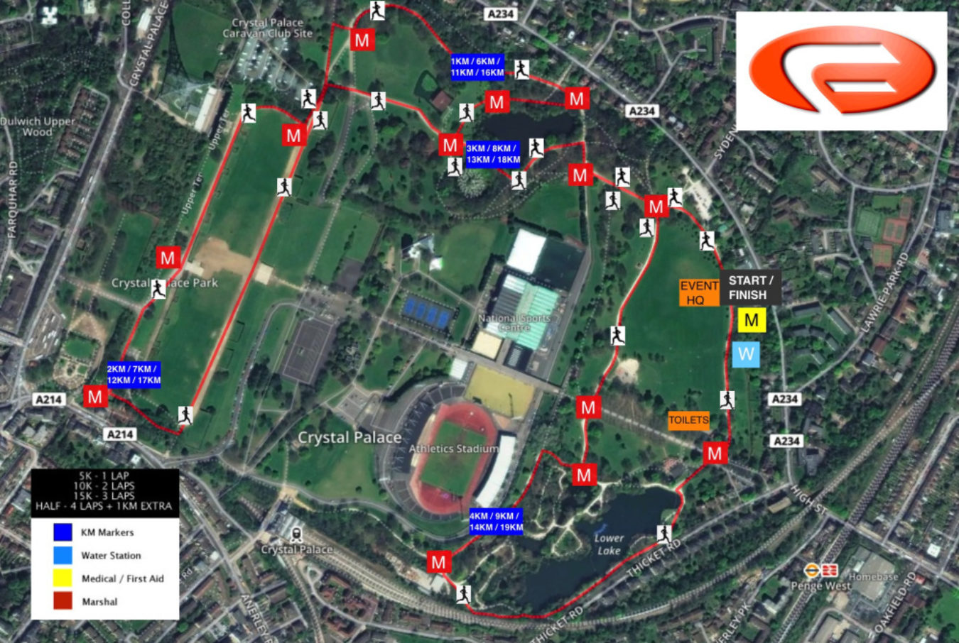 Conquer Crystal Palace Almost Autumn 5K 10K 15K And Half Marathon