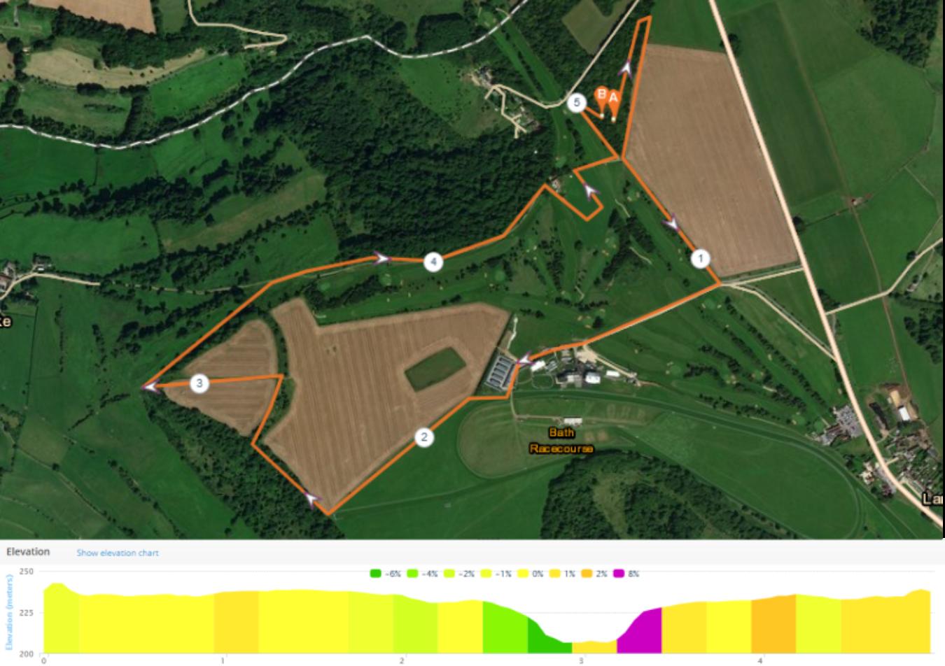 Dark Horse Race Route