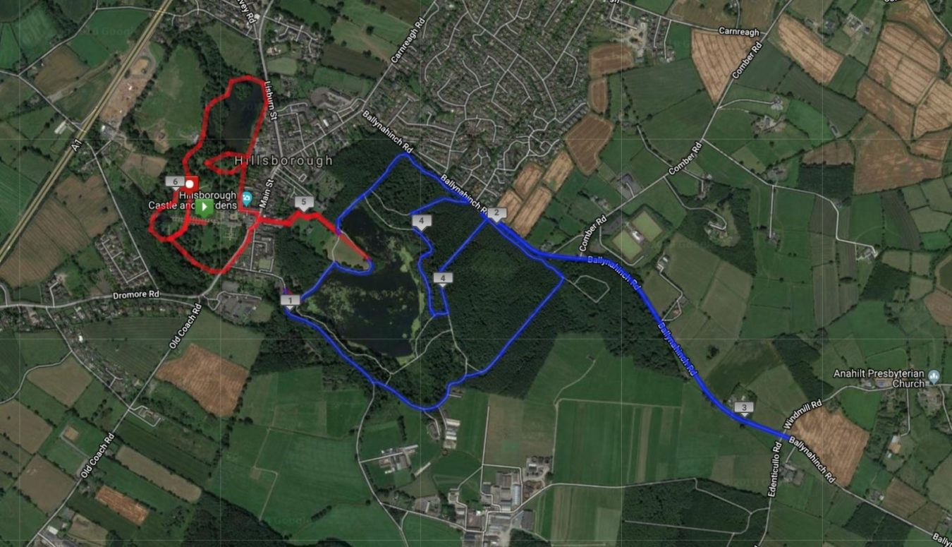 Hillsborough 10K Route