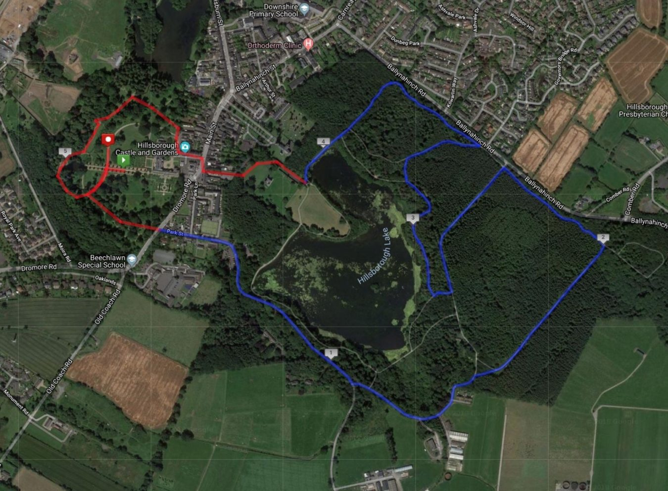 Hillsborough 5K Route