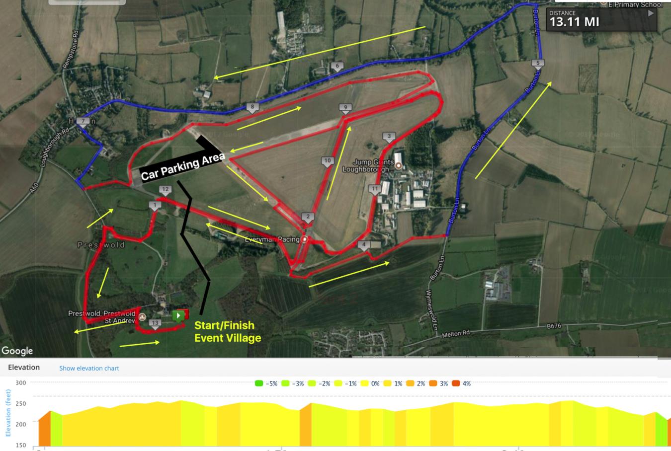 Leic Half Course Map