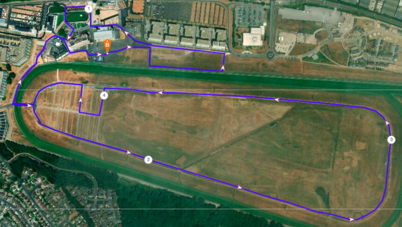 Newbury Racecourse Race Route V2