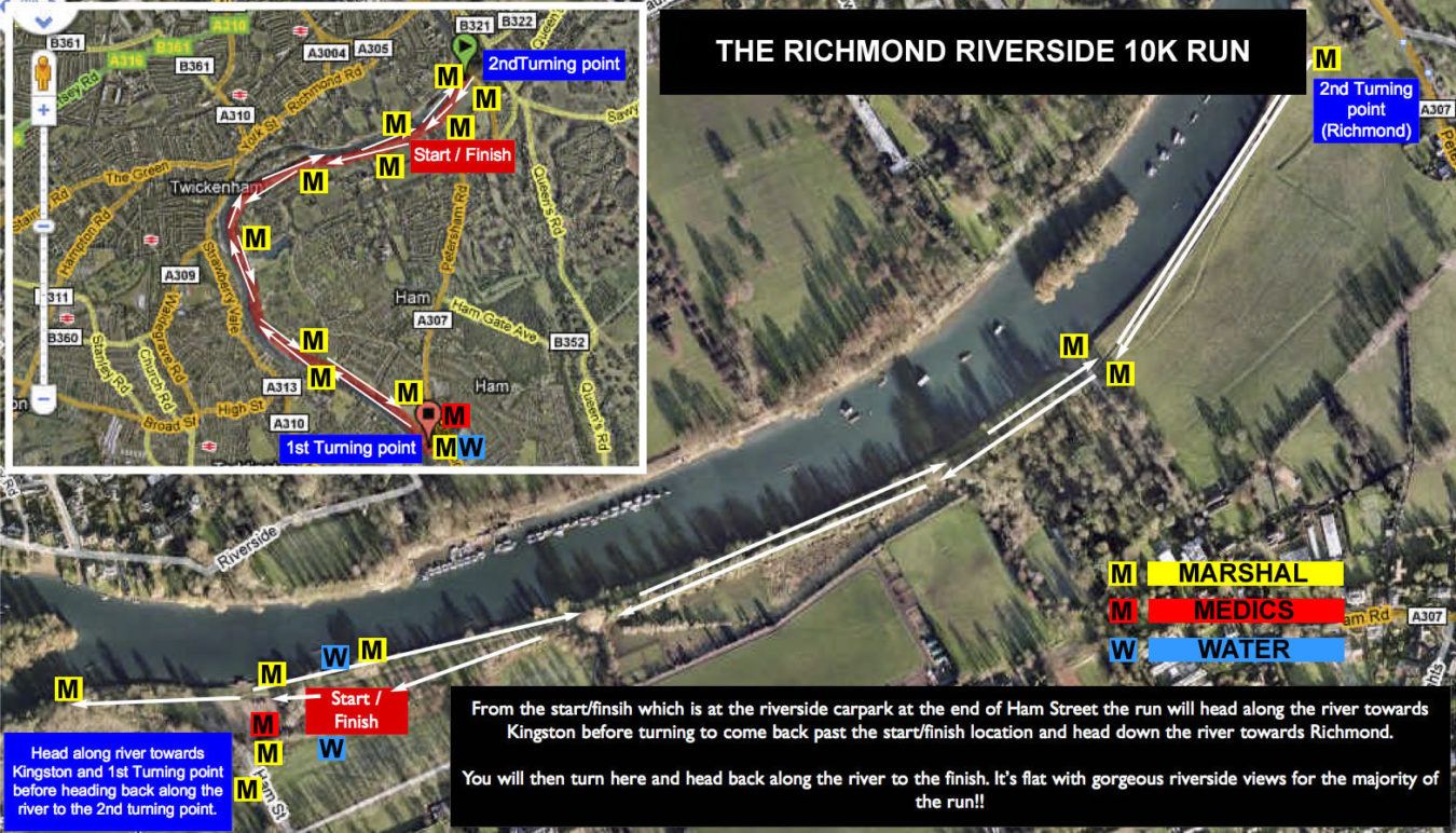 Richmond Riverside Run Route