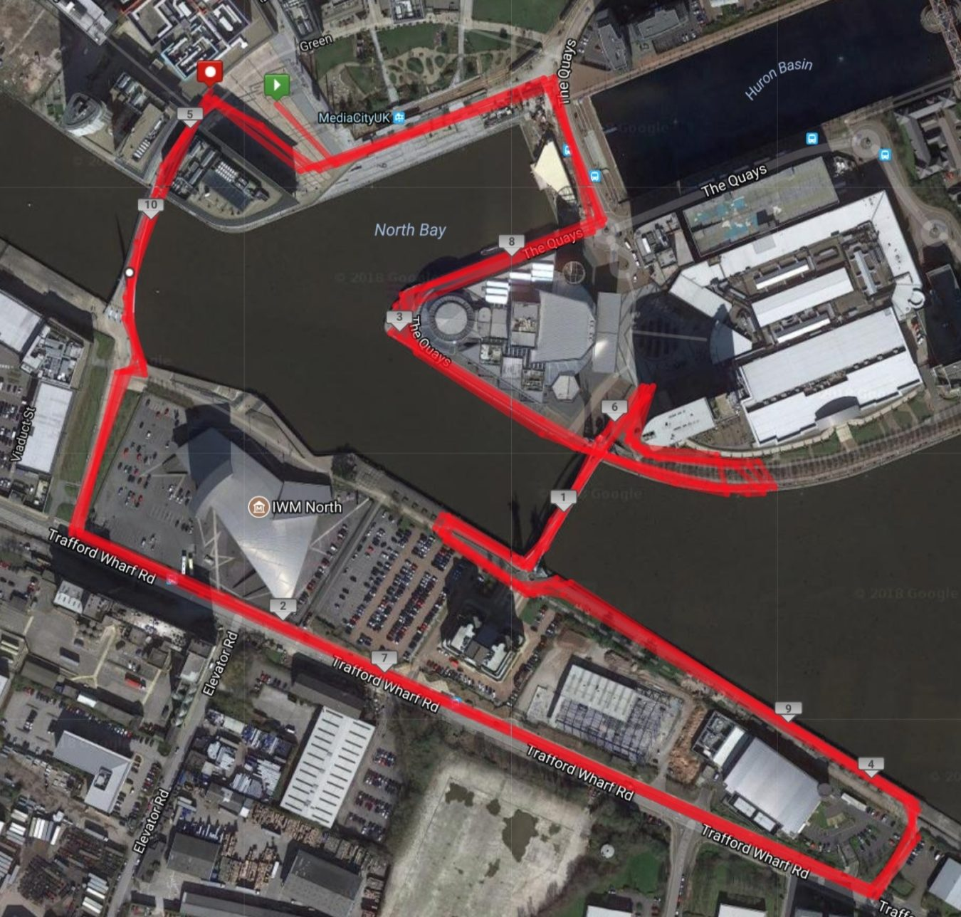 Run Media City10K Map 1