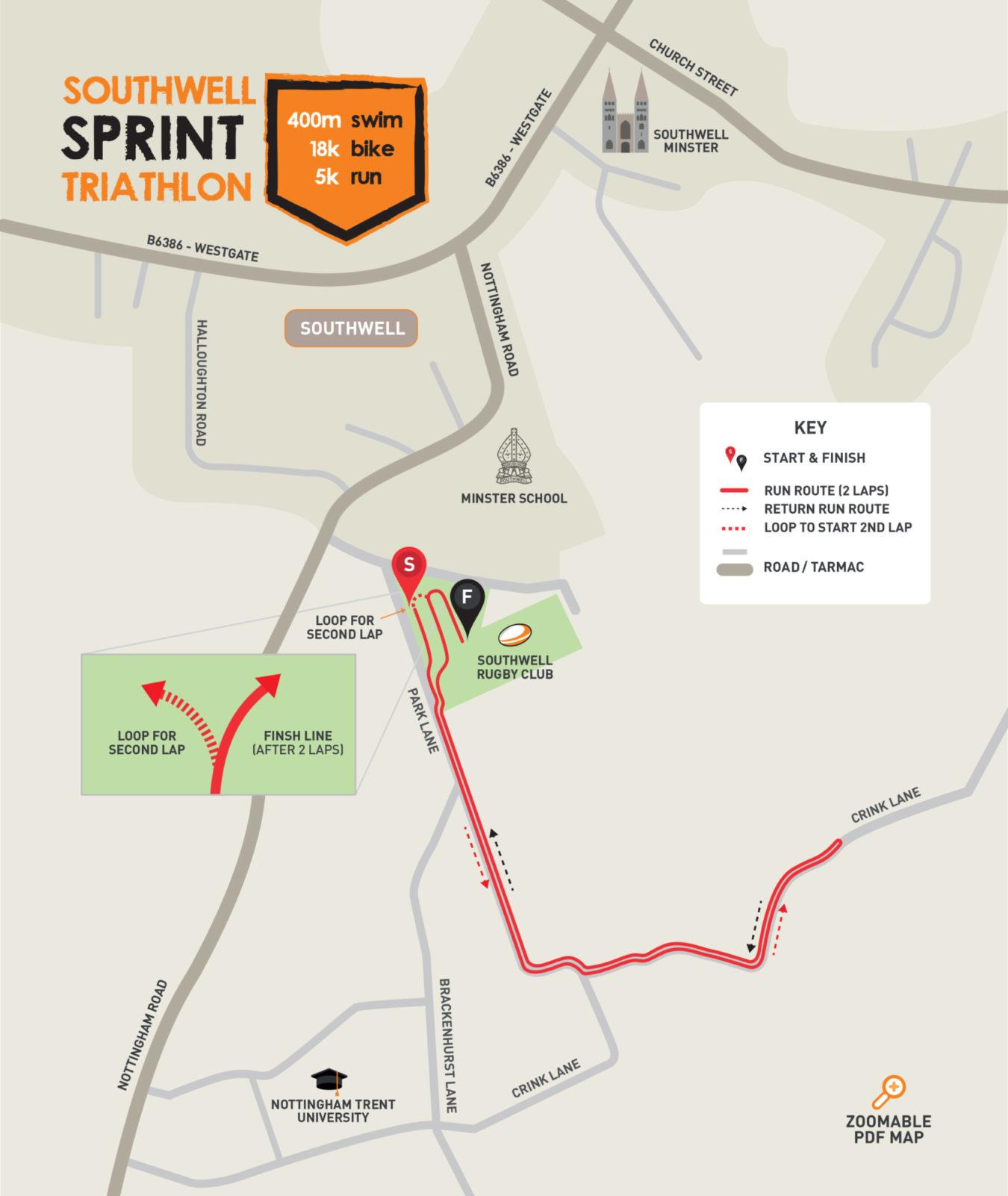 Southwell 20 Appendix 1 Run Map