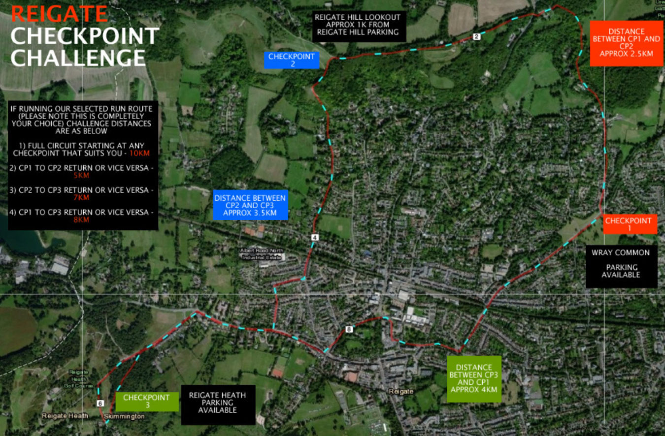 The Reigate Check Point Run Challenge Race 2
