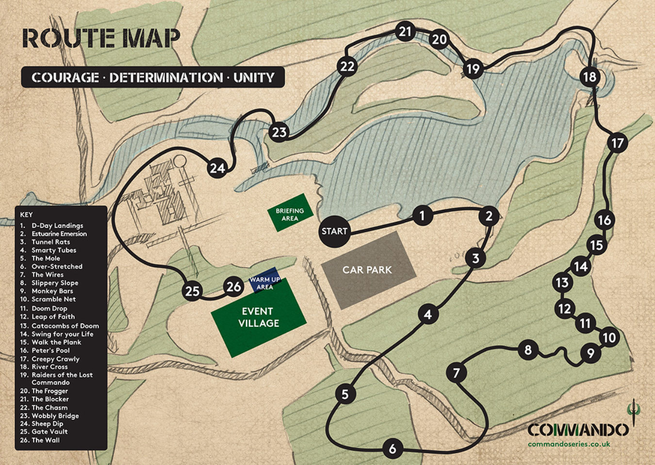 Commando 2019 Route Map