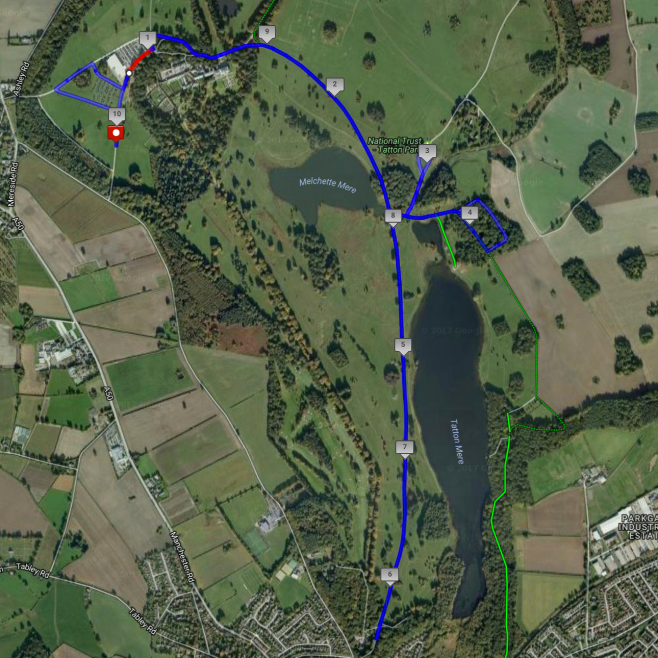 Tatton10Kcourse