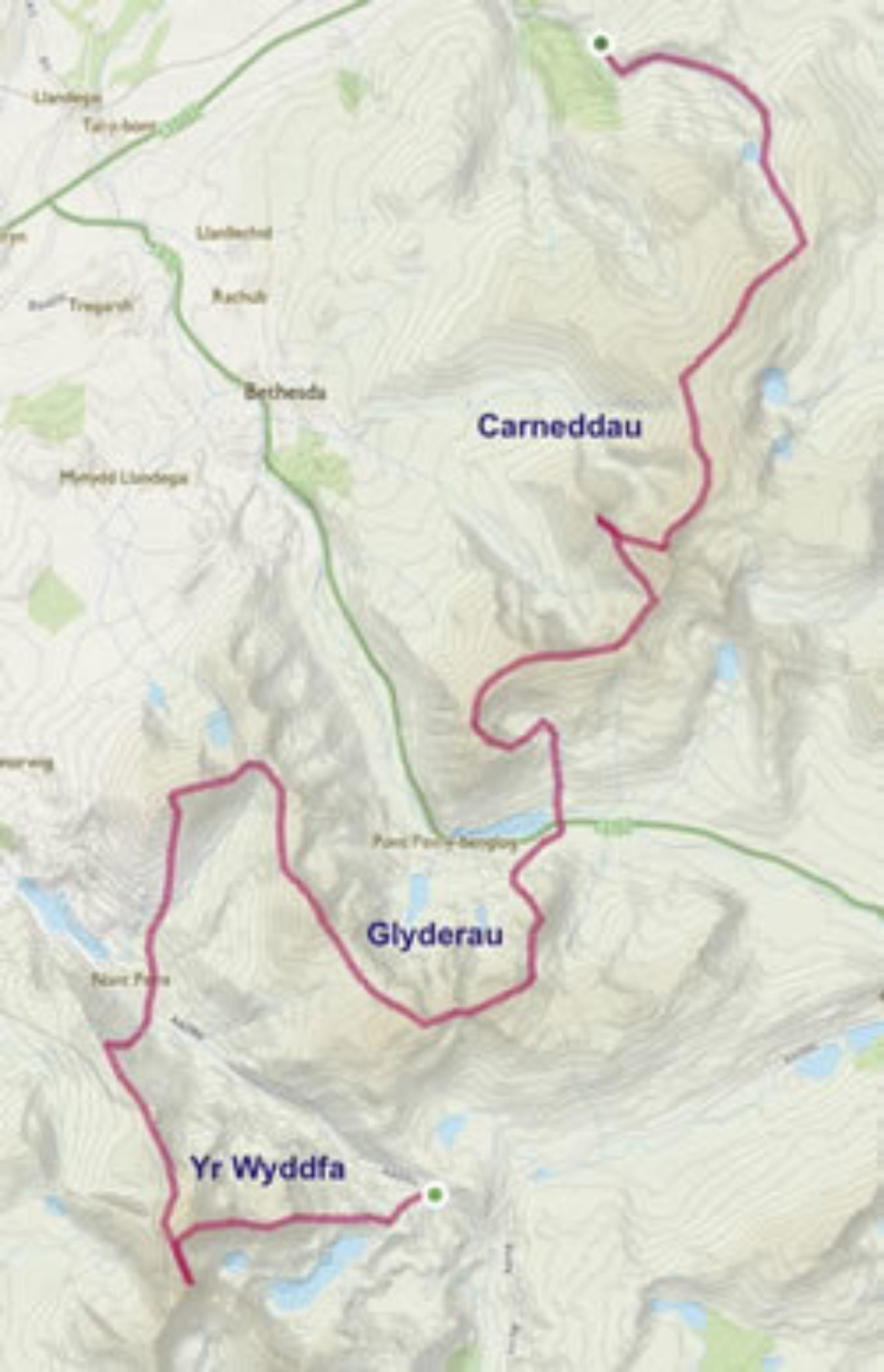 Welsh 3000S Map