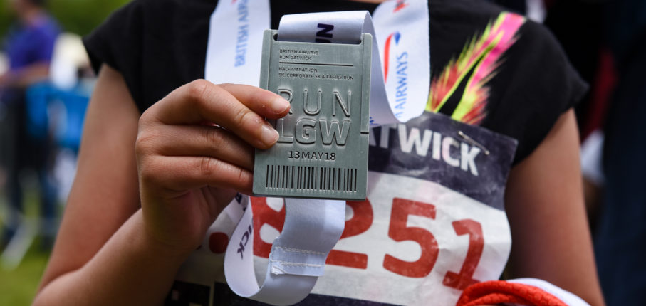 Gatwick Finisher With Medal