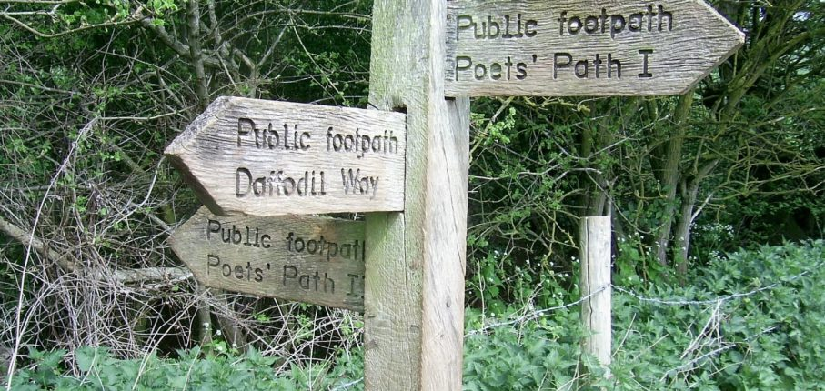 Signing The Way To The Three Poets Path Potter Routes