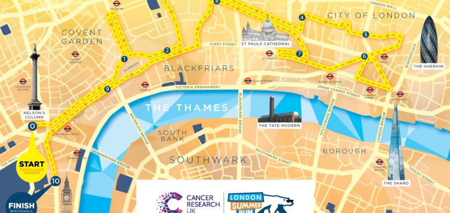 London Summer Run Map New