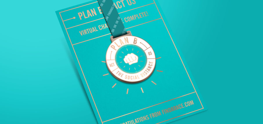 Plan B Medal Card Mockup