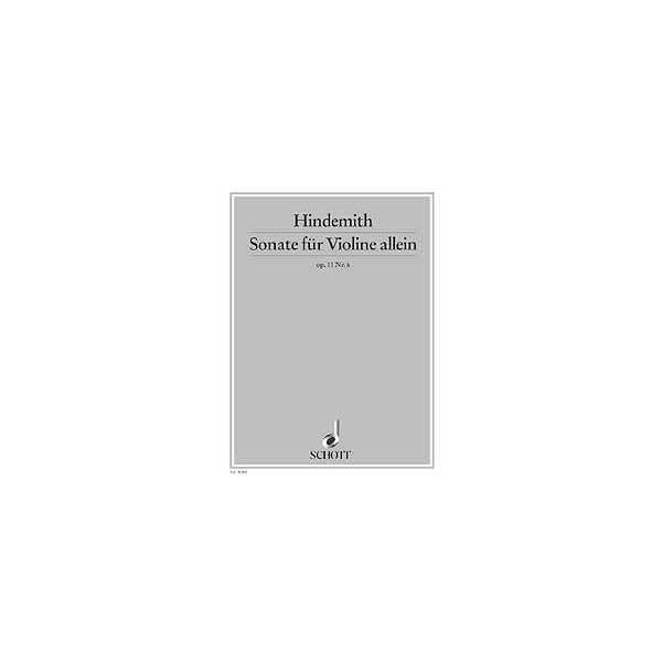 Hindemith, Paul - Violin Sonata op. 11/6