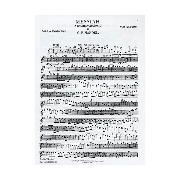 G. F. Handel: Messiah: First Violin (Edited By Watkins Shaw) - Handel, George Frideric (Artist)