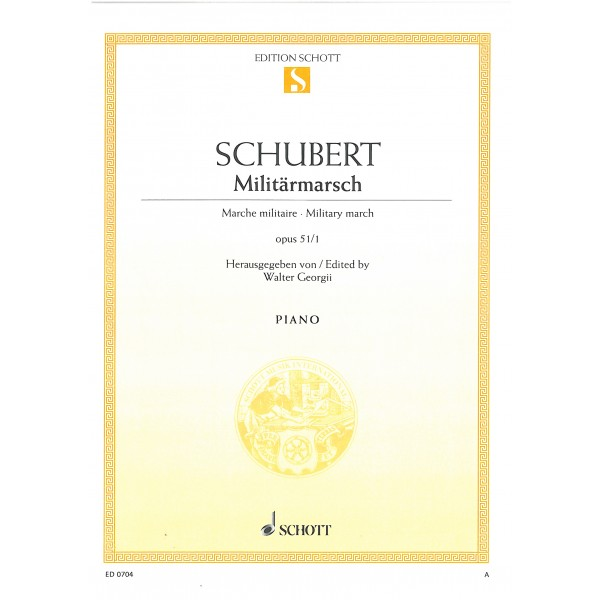Schubert, Franz - Military march D Major op. 51/1 D 733/1
