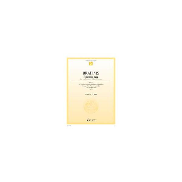 Brahms, Johannes - Variations on a theme by Robert Schumann op. 23