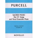 Purcell Society Volume 30 - Sacred Music Part 6 Songs and Vocal Ensemble - Purcell, Henry (Artist)