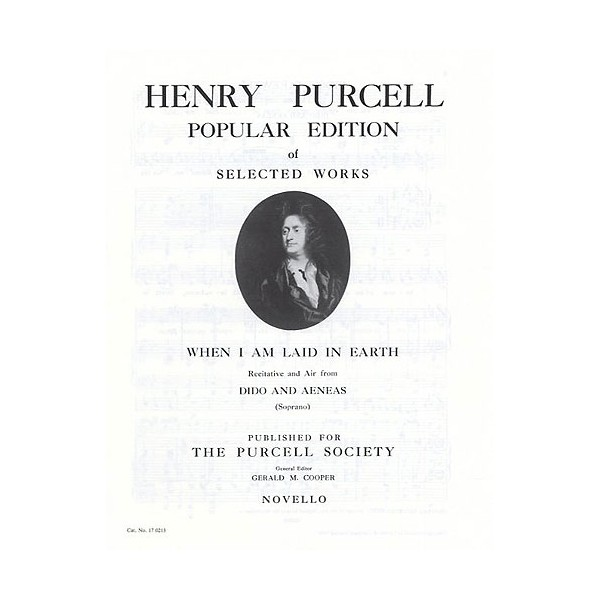 Henry Purcell: When I Am Laid In Earth - Purcell, Henry (Artist)