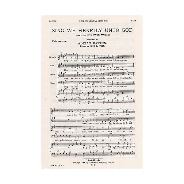 Adrian Batten: Sing We Merrily Unto God - Batten, Adrian (Artist)