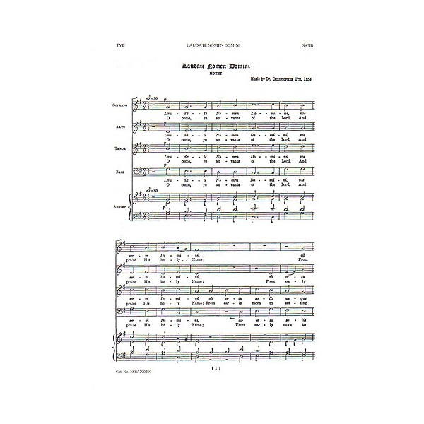Christopher Tye: Laudate Nomen Domini/G.F. Handel: O Lord, We Trust Alone In Thee - Handel, George Frideric (Artist)