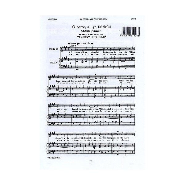 Vincent Novello: O Come, All Ye Faithful (Adeste Fideles) - Novello, Vincent (Author)