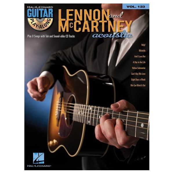Guitar Play-Along: Lennon & McCartney Acoustic (Book/CD)