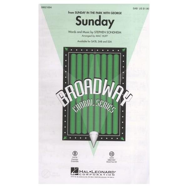 Stephen Sondheim: Sunday (Sunday In The Park With George) - SAB