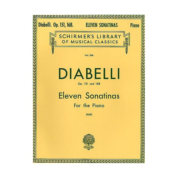 Anton Diabelli: Eleven Sonatinas For Piano 0p.151/168 - Diabelli, Anton (Artist)