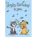 Music Gallery: Kids 2 Birthday Card