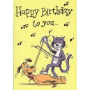 Music Gallery Greeting Cards x16: Birthday Pack