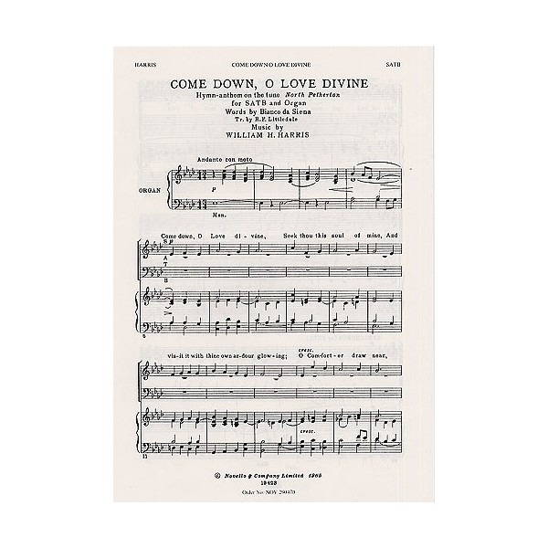 William H. Harris: Come Down, O Love Divine - Harris, Sir William Henry (Artist)