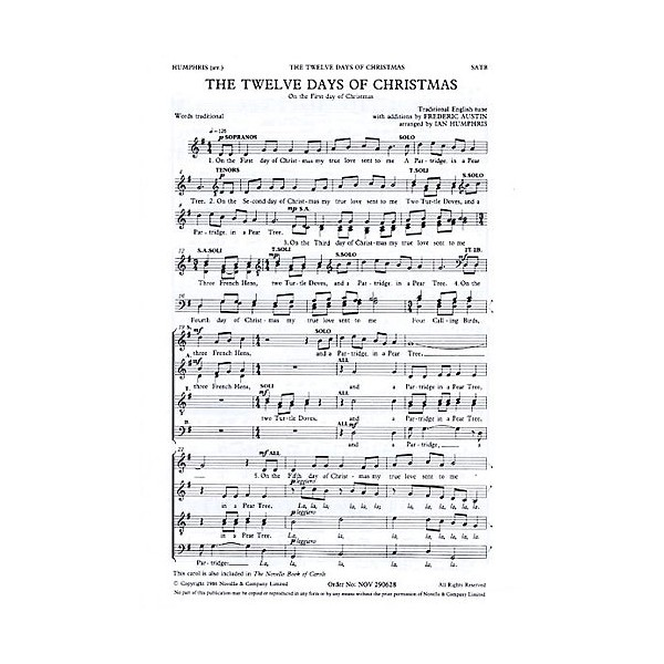The Twelve Days Of Christmas (SATB) - Traditional (Artist)