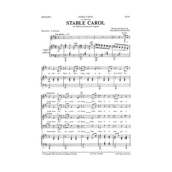 Vaughan Meakins: Stable Carol (SATB) - Meakins, Vaughan (Artist)