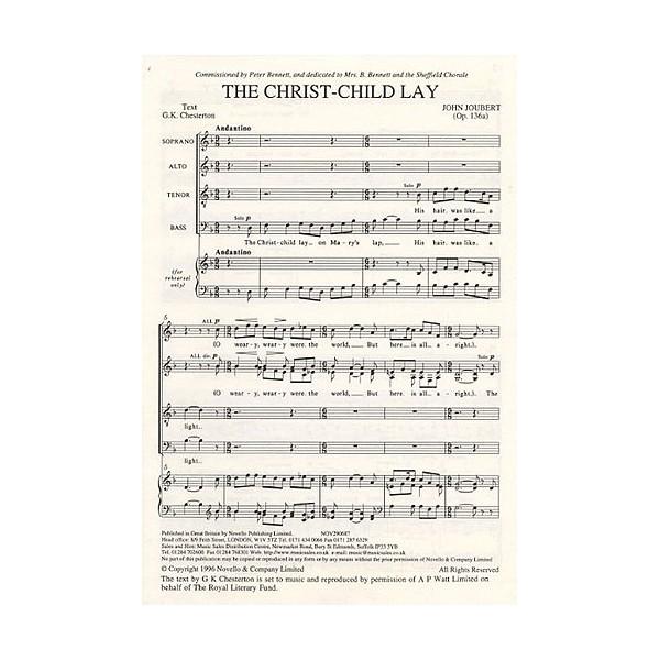 John Joubert: The Christ-Child Lay Op.136a - Joubert, John (Artist)