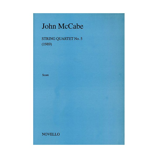McCabe: String Quartet No. 5 (Score) - McCabe, John (Composer)