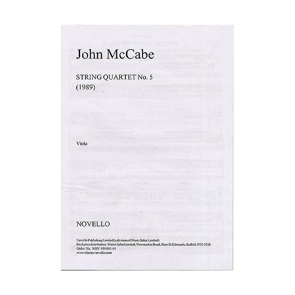 McCabe: String Quartet No. 5 (Parts) - McCabe, John (Composer)