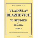 70 Studies for BB flat Tuba Volume 1 by Vladislav Blazhevich