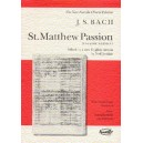 Bach, J S - St. Matthew Passion (Vocal Score)