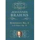 Johannes Brahms: Symphony No.2 In D Major Op.73 (Dover Miniature Score) - Brahms, Johannes (Composer)