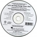 Lets All Sing Songs From Glee - Performance/Accompaniment CD