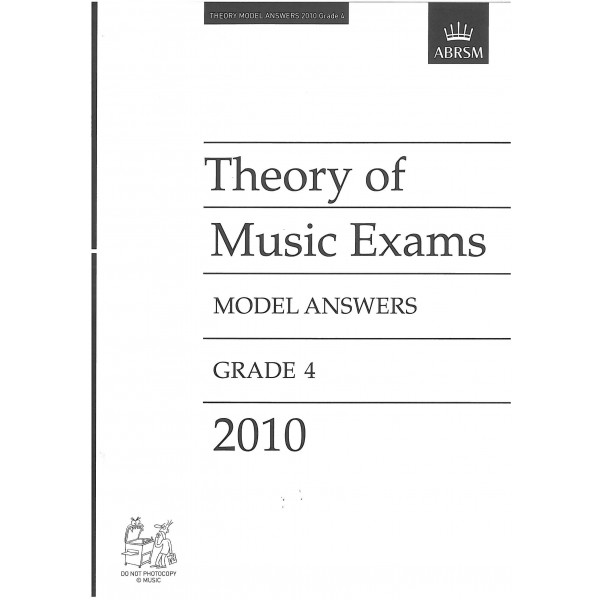 Theory of Music Exams Model Answers Grade 4 2010
