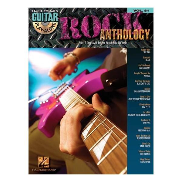 Guitar Play-Along Volume 81: Rock Anthology