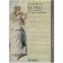 Puccini, Giacomo - Le Villi. Vocal Score.